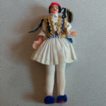old National costume doll Greece ? see pictures maker unknown